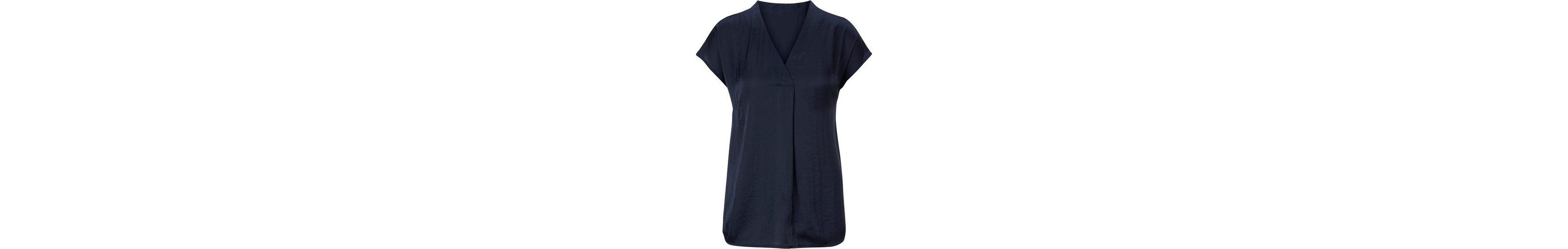 Fair Lady Bluse aus glänzendem, fein geknittertem Stoff