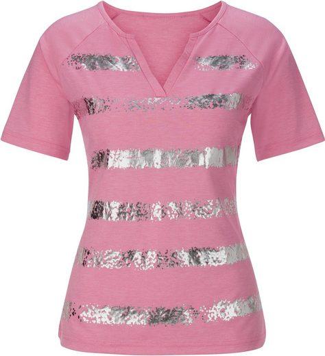 Alessa W. Shirt in weicher Melange-Qualität