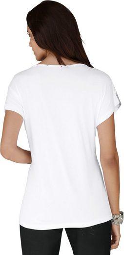 Alessa W. Shirt mit grafischem Dessin