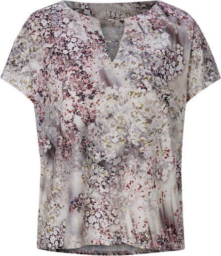 Fair Lady Shirt mit Fantasieblüten-Druck