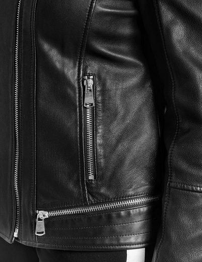 Samoon Blazer / Jacke Leder Lederjacke im Biker-Style