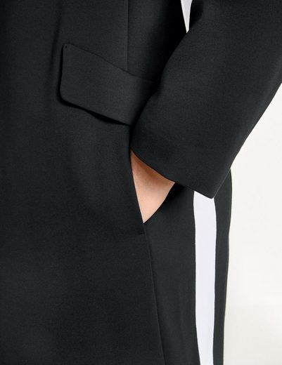 Samoon Mantel nicht Wolle Blazermantel mit Kontraststreifen