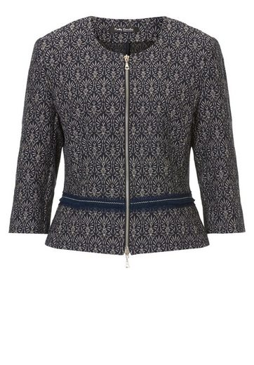 Betty Barclay Jacket In Blazer Style With Allover Print
