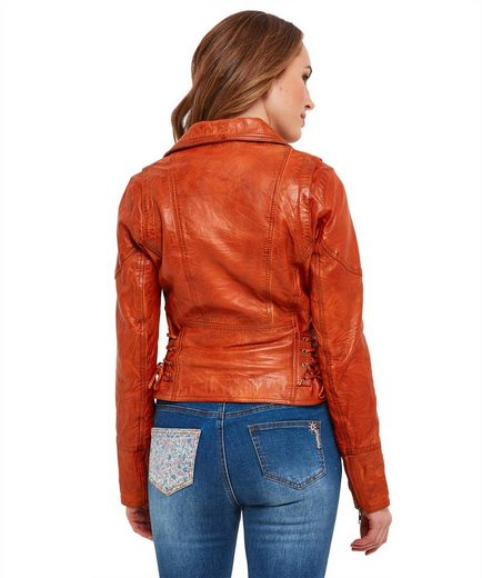 Joe Browns Lederjacke Joe Browns Womens Off Centre Zip Up Joe's Leather Jacket