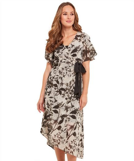 Joe Browns Wickelkleid Joe Browns Womens Short Sleeve Wrap Maxi Dress With Sheer Outer Fabric