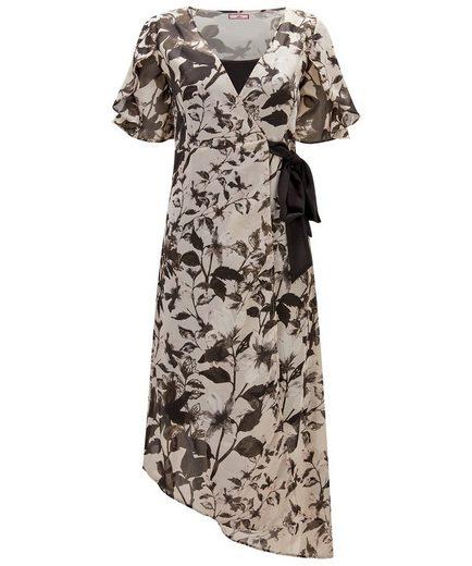 Joe Browns Wickelkleid Joe Browns Womens Short Sleeve Wrap Maxi Dress with Sheer Outer Fabric