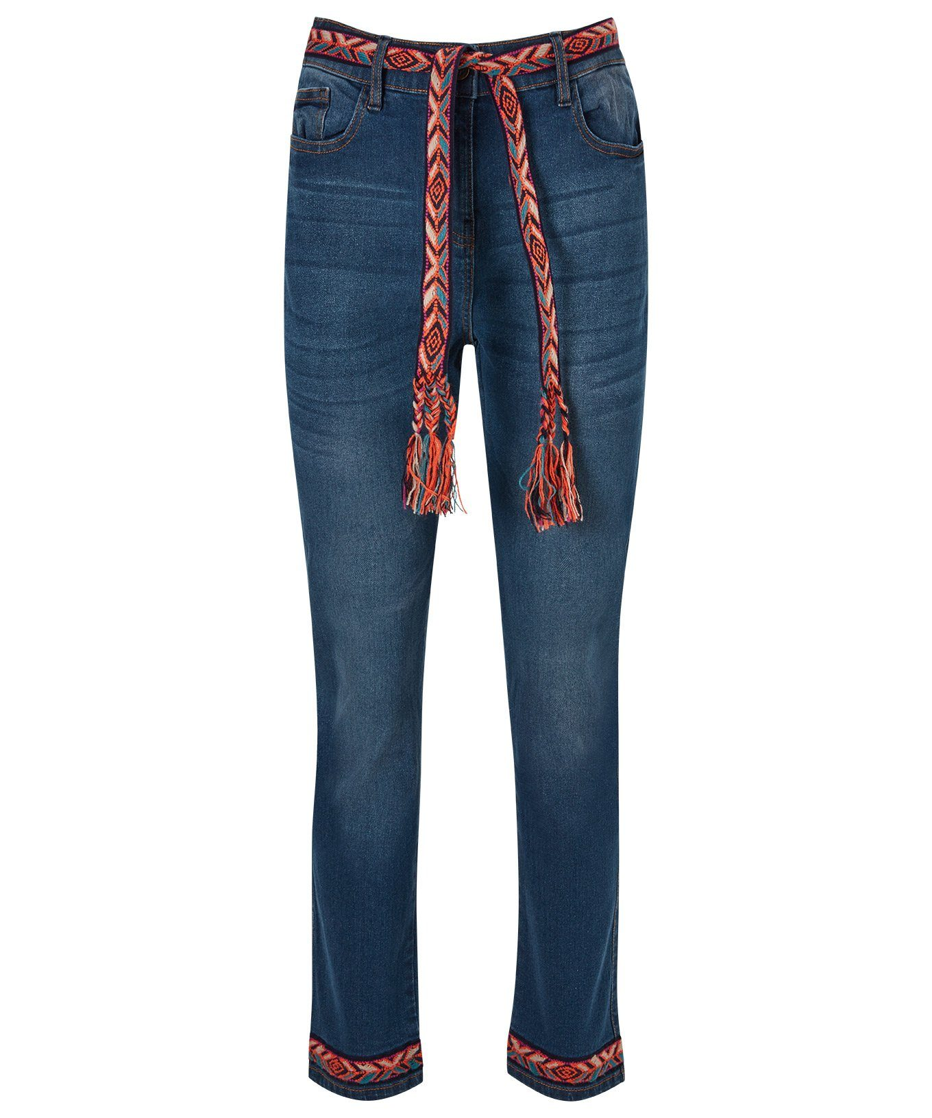 Joe Browns Regular-fit-Jeans »Knöchelhose mit Flechtgürtel«