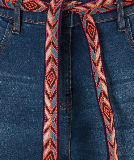 Joe Browns Regular-fit-Jeans Joe Browns Womens Cropped Fringed Jeans with Braided Belt