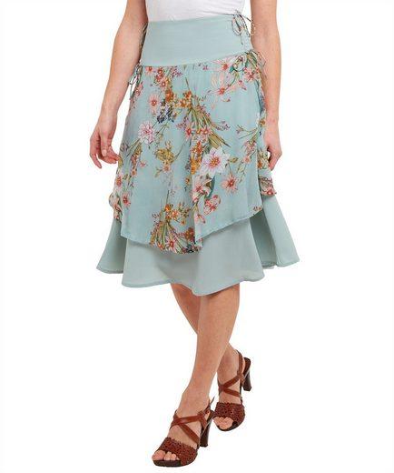 Joe Browns Sommerrock Joe Browns Womens Chiffon Layered Floral Mid Length Skirt