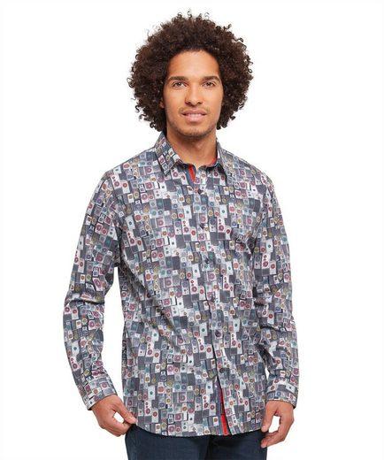 Joe Browns Langarmhemd Joe Browns Mens Long Sleeve Shirt With Loud Speaker Print