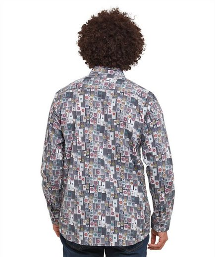 Joe Browns Langarmhemd Joe Browns Mens Long Sleeve Shirt with Loud Speaker Print