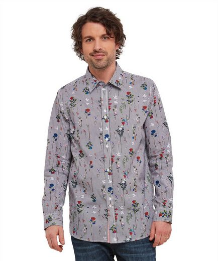 Joe Browns Langarmhemd Joe Browns Mens Long Sleeve Floral Stripe Shirt
