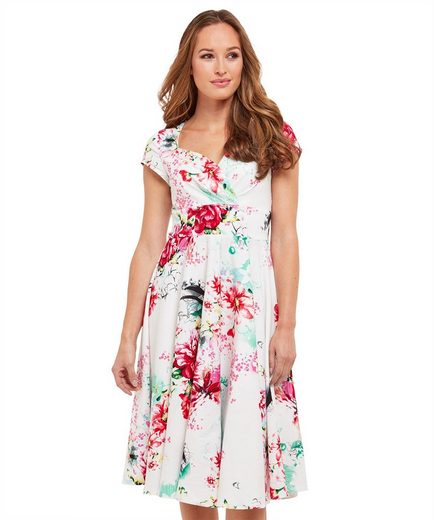 Joe Browns Sommerkleid Joe Browns Womens Short Sleeve Vintage Style Tea Dress with Floral Print