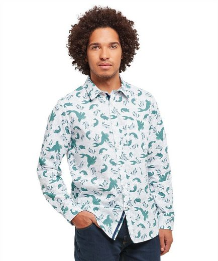 Joe Browns Langarmhemd Joe Browns Mens Long Sleeve Shirt with Fish Print