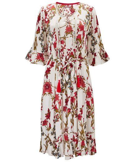 Joe Browns A-Linien-Kleid Joe Browns Womens 3/4 Sleeve Floral Tea Dress with Frilled Hem