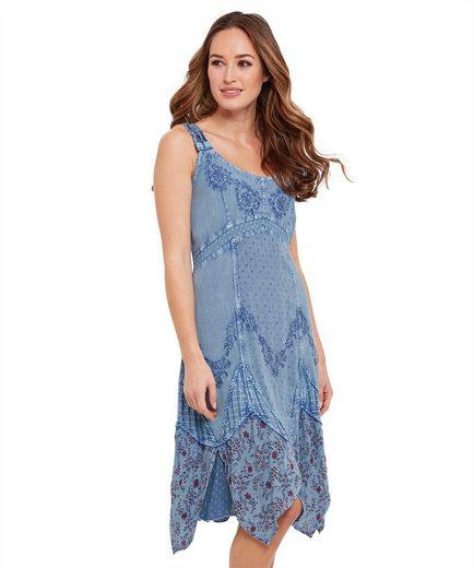 Joe Browns A-Linien-Kleid Joe Browns Womens Sleeveless Sun Dress in Washed Denim Style Fabric