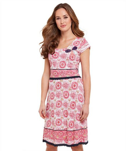Joe Browns Etuikleid Joe Browns Womens Short Sleeve Jersey Dress with Floral Embroidery Motif