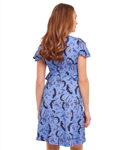 Joe Browns A-Linien-Kleid Joe Browns Womens Short Sleeve Jersey Dress with Frill Waist in Leaf Print