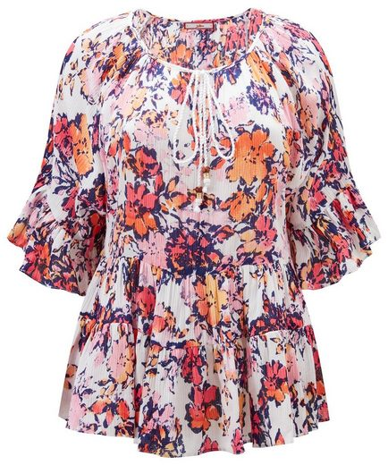 Joe Browns Rüschenbluse Joe Browns Womens Festival Blouse with Frilled Hemline