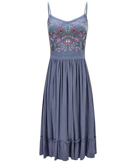 Joe Browns Skaterkleid Joe Browns Womens Strappy Sun Dress with Floral Embroidery