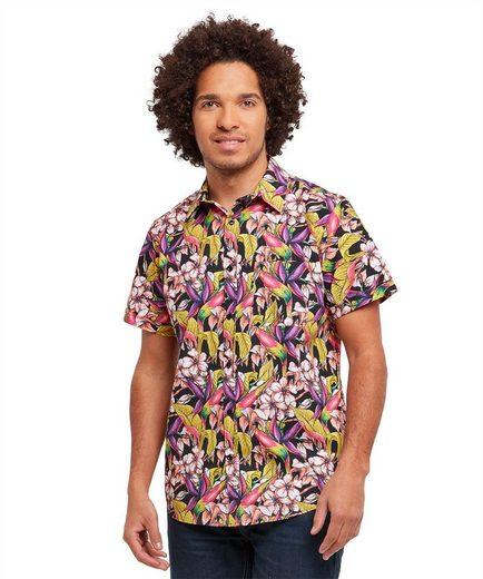 Joe Browns Kurzarmhemd Joe Browns Mens Short Sleeve Casual Shirt in All Over Floral Print