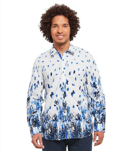 Joe Browns Langarmhemd Joe Browns Mens Long Sleeve Shirt with Floral Border Print