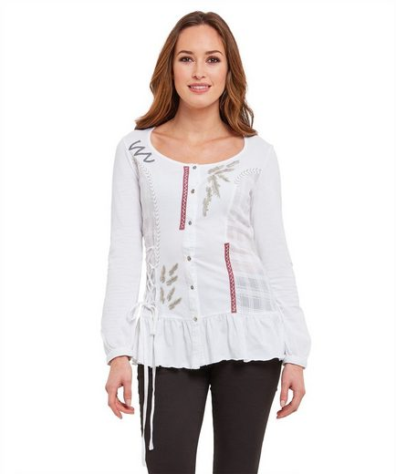 Joe Browns Langarmbluse Joe Browns Womens Long Sleeve Button Up Embroidered Blouse
