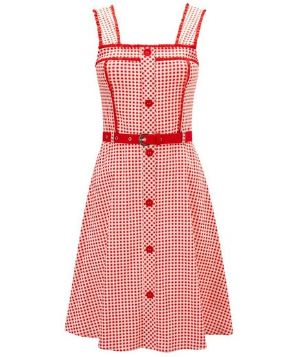 Joe Browns Skaterkleid Joe Browns Womens Sleeveless Gingham Skater Dress with Detachable Buckle Belt