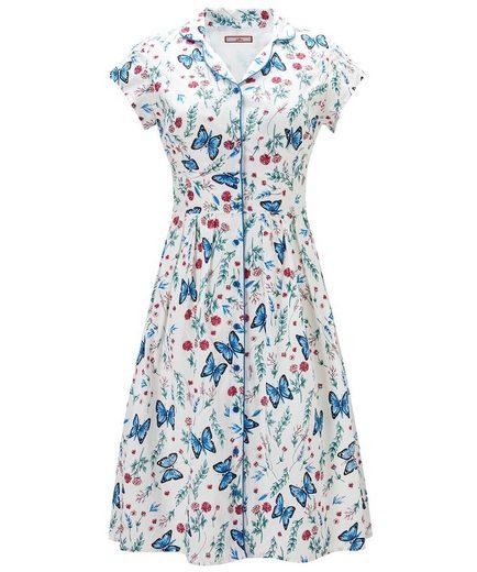 Joe Browns Shirtkleid Joe Browns Womens Cap Sleeve Butterfly Print Shirt Dress