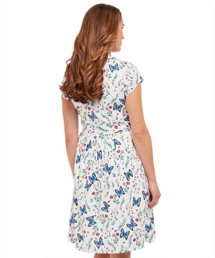 Joe Browns Shirtkleid Joe Browns Womens Cap Sleeve Butterfly Print Shirt Dress