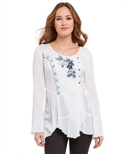 Joe Browns Langarmbluse Joe Browns Womens Long Bell Sleeve Embroidered Blouse