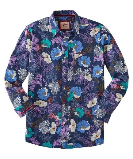 Joe Browns Langarmhemd Joe Browns Mens Long Sleeve Bright Floral Shirt