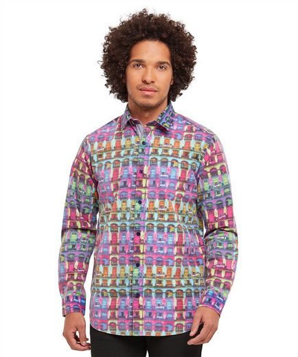 Joe Browns Langarmhemd Joe Browns Mens Long Sleeve Printed Pattern Shirt