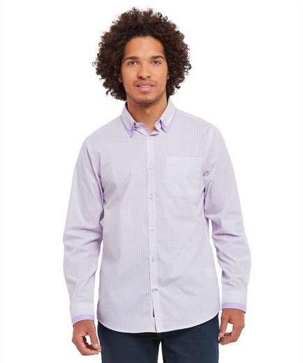 Joe Browns Langarmhemd Joe Browns Mens Long Sleeve Button Down Double Collar And Double Cuff Shirt