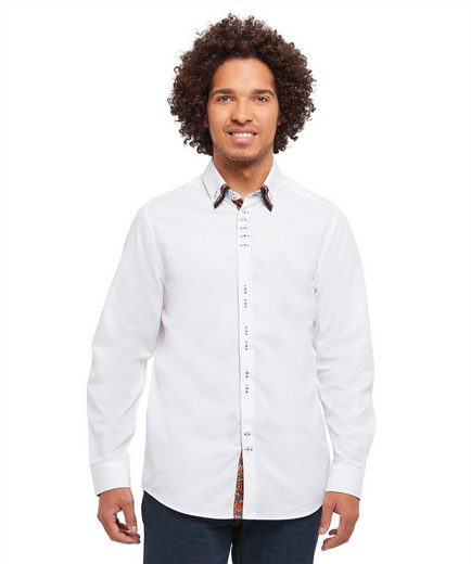 Joe Browns Langarmhemd Joe Browns Mens Long Sleeve Button Down Triple Collar Shirt