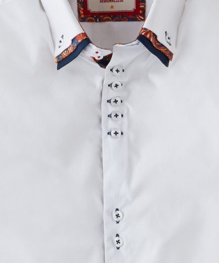 Joe Browns Langarmhemd Joe Browns Mens Long Sleeve Button Down Triple Collar Shirt