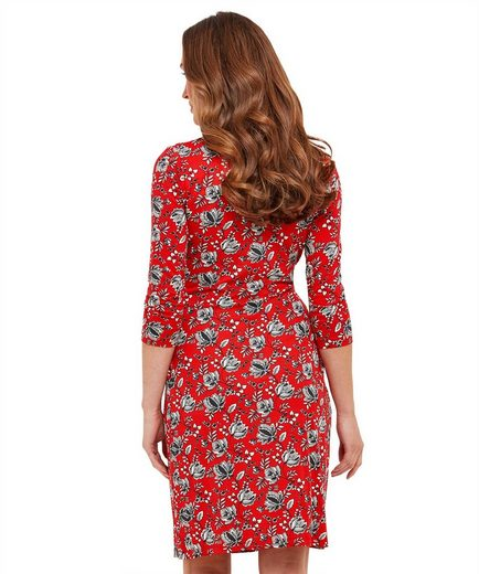 Joe Browns Etuikleid Joe Browns Womens 3/4 Sleeve Jersey Dress in All Over Floral Print