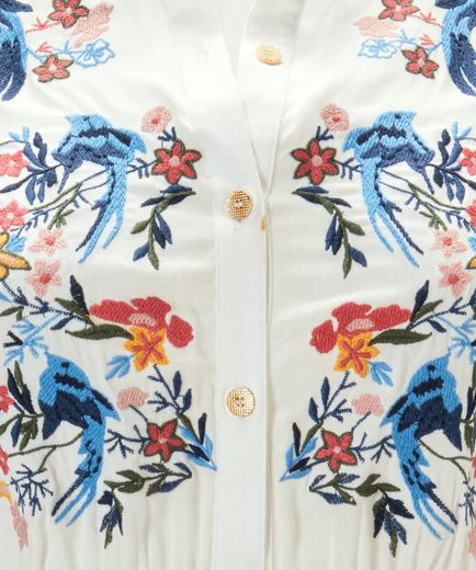 Joe Browns Longbluse Joe Browns Womens Long Sleeve Button Up Front Blouse With Embroidery Detail