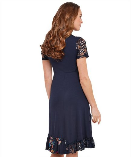 Joe Browns A-Linien-Kleid Joe Browns Womens Short Sleeve Jersey Dress with Mix and Match Fabric