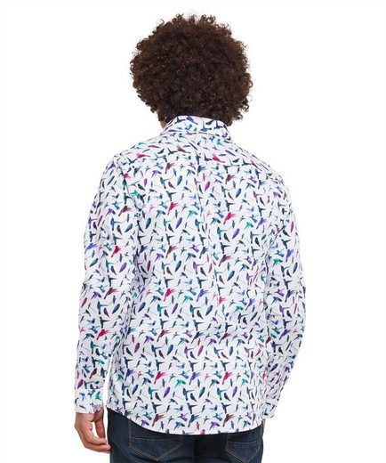 Joe Browns Langarmhemd Joe Browns Mens Long Sleeve Bird Print Shirt