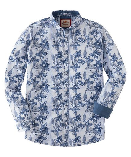 Joe Browns Langarmhemd Joe Browns Mens Long Sleeve Shirt with All Over Floral Print