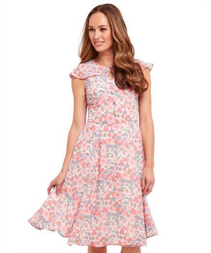 Joe Browns Skaterkleid Joe Browns Womens Sleeveless Floral Tea Dress with Shoulder Frill