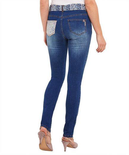 Joe Browns Röhrenjeans Joe Browns Womens Applique Skinny Jeans with Fabric Belt