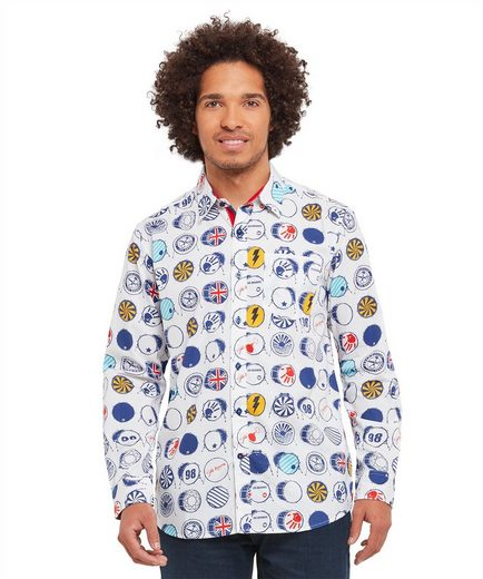 Joe Browns Langarmhemd Joe Browns Mens Long Sleeve Shirt with Drum Print