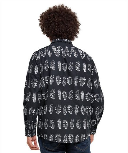 Joe Browns Langarmhemd Joe Browns Mens Long Sleeve Shirt with Guitar Print
