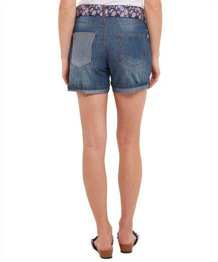 Joe Browns Jeansshorts Joe Browns Womens Embroidered Shorts with Fabric Belt