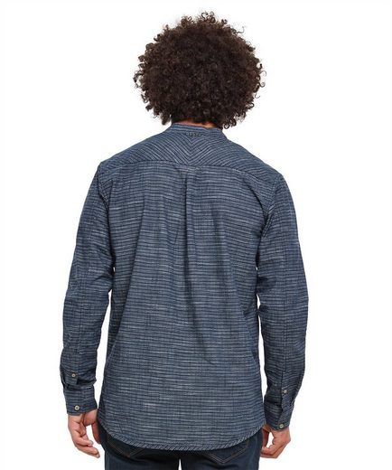 Joe Browns Langarmhemd Joe Browns Mens Long Sleeve Grandad Collar Shirt