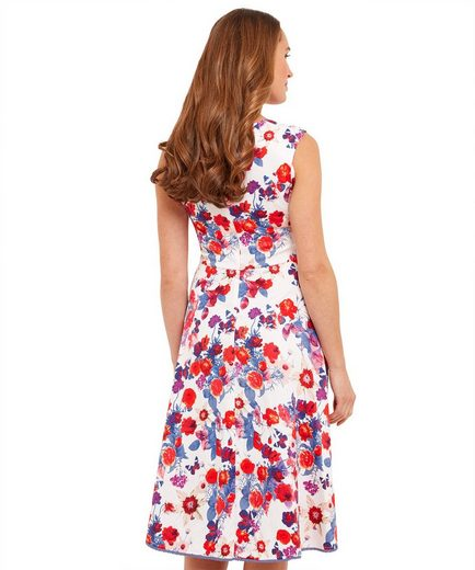 Joe Browns Skaterkleid Joe Browns Womens Sleeveless Skater Dress with Sweetheart Neckline in All Over Floral Print