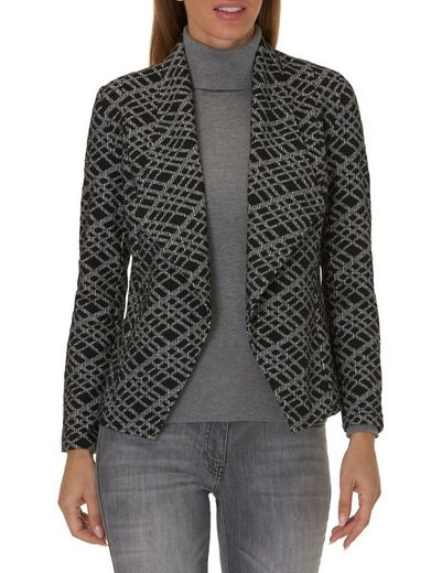 Betty Barclay Patterned Blazer Jacket With Shawl Collar