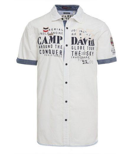 CAMP DAVID Kurzarmhemd